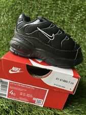 TODDLER BOY: Nike Little Air Max Plus, Black - Size 4C 314730-053