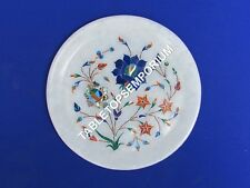 """7"""" Marble Serving Plate Mosaic Rare Inlaid Cyber Monday Gift Home Decor H3222"""