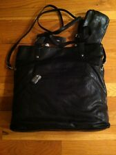 STYLE&co. BLACK SHOPPER BUSINESS TOTE BAG WITH WRISTLET ORG. $69.99 BNWT