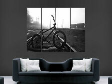 BMX RETRO BLACK AND WHITE CYCLING  GIANT POSTER ART  PRINT LARGE HUGE
