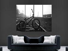 BMX Retro schwarzweiß Radsport Giant Poster Kunstdruck groß riesig