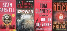 MAN OF WAR / HUNTED / OUT OF ASHES / INVASION OF PRIVACY 4 bk War Espionage LOT
