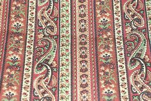 """Fabric 36x32 """" Cotton Vtg Autumn colours Paisley   Dressmaking Patchwork   22"""