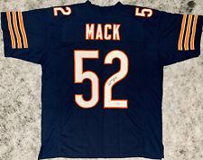 Khalil Mack Signed Blue Jersey - Auto Beckett BAS COA