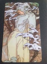 Alphonse Mucha  - Winter Toolbox Fridge Magnet Art Nouveau Belle Epoque seasons