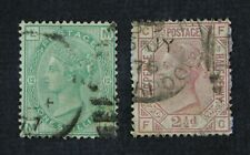 CKStamps: Great Britain Stamps Collection Scott#64 66 Victoria Used