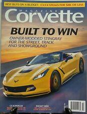 Corvette Magazine Oct 2016 Built to Win Owner Modded Stingray FREE SHIPPING sb