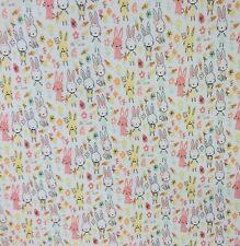 Premier Polialgodón Hoppity Vestido Blanco Conejo empavesado Quilting fabric Craft