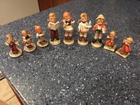 LOT OF 9 VINTAGE HUMMEL STYLE FIGURINES INARCO NAPCO WARE JAPAN. FREE SNH
