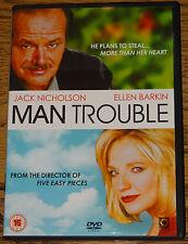 MAN TROUBLE 1992 JACK NICHOLSON ELLEN BARKIN RARE DELETED OOP R2 DVD FAST POST
