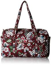 Vera Bradley Iconic Large Travel Women's Duffel Bag Bag, Bordeaux Blooms