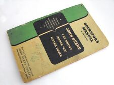 JOHN DEERE Tractor VAN BRUNT GRAIN DRILL MODEL LZ Owners Operators Manual