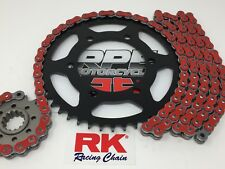 Red 2011-16 GSXR600 RK GXW525 15/45 -1/+2 Quick Accel Chain and Sprocket Kit