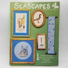 1983 Tidewater Originals Seascape 4 Cross Stitch Booklet by Virginia Creekman