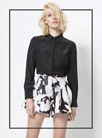 BNWT Cameo C/MEO Collective Studio Silk Shirt Black Size S AU8/ US4