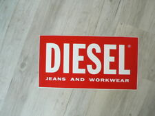 STICKER,DECAL DIESEL JEANS AND WORKWEAR RED LOGO  BIG SIZE 44 CM A
