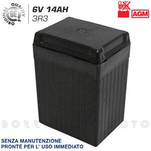 Batterie Pour Renovation 6V 14AH AGM Moto Guzzi Falcone 1A Série 500 1970