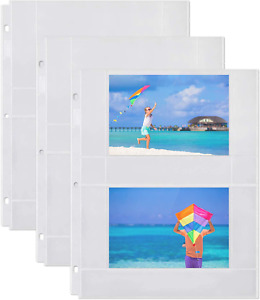 Photo Album Refill Pages (4x6 Horizontal 50 Pack) for 200 Photos Pockets