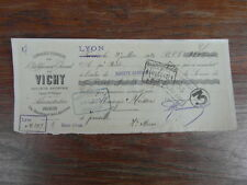 ANCIEN CHEQUE FACTURE BON A ORDRE : BISCUITS BRUN GRENOBLE 1952