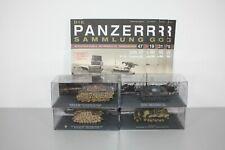 Die Panzersammlung De Agostini: Konvolut mit vier Modellen - ansehen ! (N477)