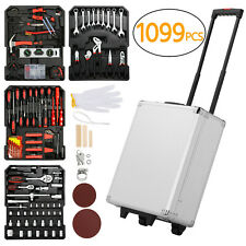 1099 Rolling Tool Box with Tools Mechanic Tool Set Kit Organizer with Wheels