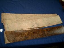 Nussbaum Maser Furnier kaschiert   790 x 125 mm   10 Blatt      Nr. 911