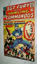 Sgt. Fury and His Howling Commandos #13 Nm+ 9.6 1964 early Captain America app.