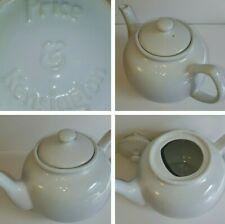 Price & Kensington Large White 2½ Pint Ceramic Gooseneck Spout Teapot