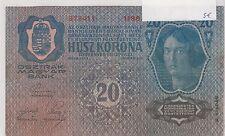 HONGRIE HUNGARY MAGYAR 20 KORONA 1913 VF