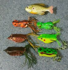 Lot Of 7 - Frog Fishing Lures *Top water/Hollow Body*