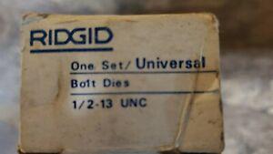 Ridgid Universal Head 1/2-13 Bolt Die Set 48235