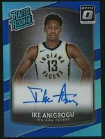 Ike Anigbogu 2017-18 Optic Blue Refractor RC Rookie Auto Autograph 4/49 Pacers