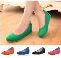 Women Casual Gilrs Wedge Heel Slip on Pumps Canvas Ladies Shoes Loafer Plus Size