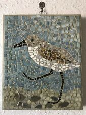 Sandpiper Hand Made Mosaic Great Lakes Beach Theme Wall Hanging Picture Wall Art