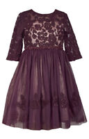 Bonnie Jean Big Girls 7-16  Beaded Waist Lace  Tulle   Holiday Party Dress.