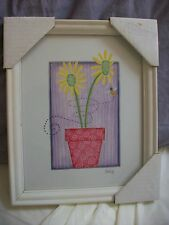 Daisy Picture White Frame Approx 8 x 8