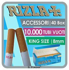 RIZLA TUBI VUOTI 10000 TUBETTI CON FILTRO - 40 BOX DA 250 SIGARETTE VUOTE