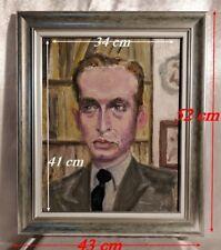 Portrait de Boris Vian (1920-1959 ) Montmartre Paris 1950 Huile sur Panneau.