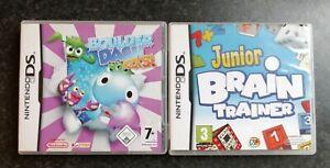 2 NINTENDO DS GAMES BOULDER DASH ROCKS & JUNIOR BRAIN TRAINER LOVELY TESTED INS