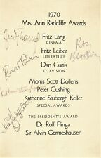 Autographs - Horror Sci Fi actors and authors Fritz Lang, Ray Bradbury, & more