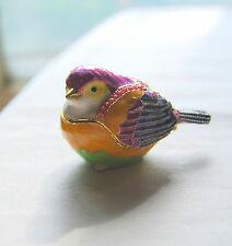 BRAND NEW, cute, Wren bird Limoge style enameled trinket box !  FREE SHIPPING !!