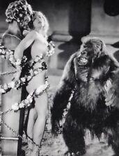 Vintage Girl & Gorilla Photo Bizarre Odd Freaky Strange