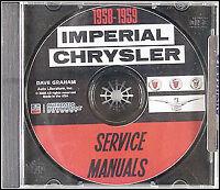 1958-1959 Chrysler Repair Shop Manual CD Imperial Windsor Saratoga New Yorker