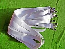 10 x White Lanyard for Sublimation,Vinyl Print,Stylish Lobster Claw Clip 20mm UK