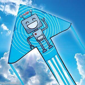 Brookite Robot Delta Kite Outdoor Fun Easy To Fly Children Kids Kite 100x151cm