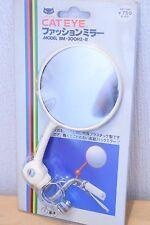 CAT EYE Vintage Classic Bicycle Mirror Handle Bar NOS White