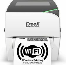 Freex Wifi Superroll Thermal Printer For 4x6 Shipping Labels White Wireless S