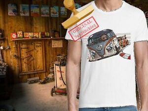 Tee Shirt 100 % Coton BIO, 180 gm, Combi Vs Porsche 911