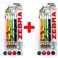 Zebra Funky Cadoozles Mechanical Pencils - 0.7mm Lead - 2 x Pack of 5