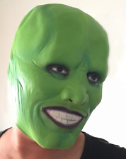Halloween Jim Carrey The Mask Latex Adults Fancy Dress Theme Costume Party